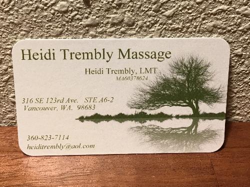 Heidi Trembly Massage Therapist in Vancouver, WA